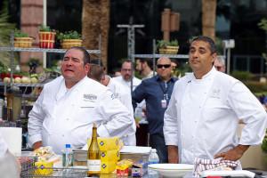 Chef Emeril Lagasse and Michale Mina