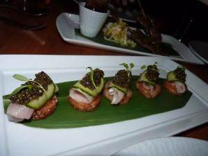 Chef Gerald Chin - caviar