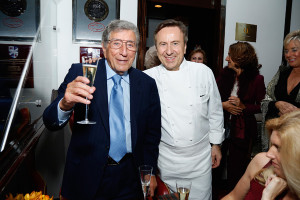 NEW YORK, NY - OCTOBER 15:  Tony Bennett and Daniel Boulud attend the Le Cirque 40th Anniversary Dinner Hosted by Sirio Maccioni during New York City Wine & Food Festival at Le Cirque on October 15, 2014 in New York City.  (Photo by Cindy Ord/Getty Images for NYCWFF) *** Local Caption *** Tony Bennett; Daniel Boulud
