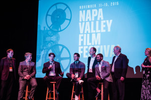 NAPA, CA - NOVEMBER 11: Q&A for the film 'Somm: Into the Bottle' at the Napa Uptown Theatre at the 2015 Napa Valley Film Festival on November 11, 2015 in Napa, California. (Photo by Bob McClenahan/PictureGroup)